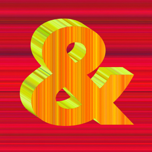 Rob and Nick Carter - RN1392, Alphabet Print, Ampersand, 2020 · © Copyright 2021