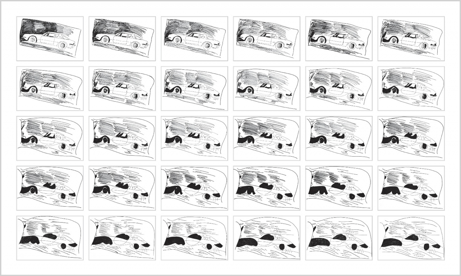 Rob and Nick Carter - RN834, Chinese Whispers, Car after Andy Warhol (1962), 2015 · © Copyright 2018
