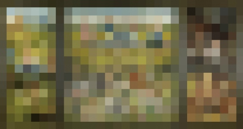 Rob and Nick Carter - RN901, 1480-1505, Pixelated Painting, 2013 · © Copyright 2017